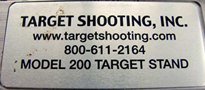 Target Shooting, Inc. Model 200 Target Stand
